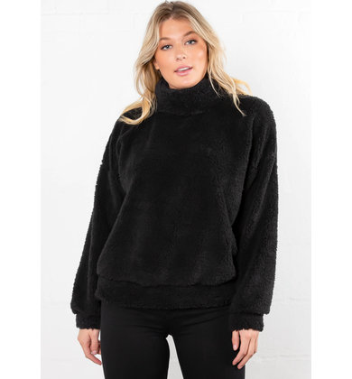 SAY WHEN COZY SWEATER - BLACK