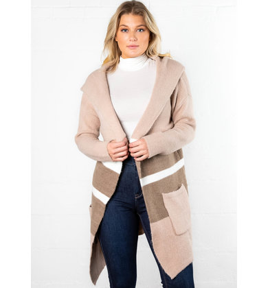 LIKELY CHOICE HOODED CARDIGAN