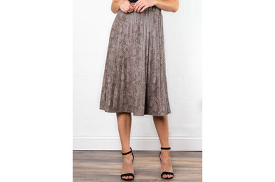 HIT THE TOWN SNAKESKIN SKIRT