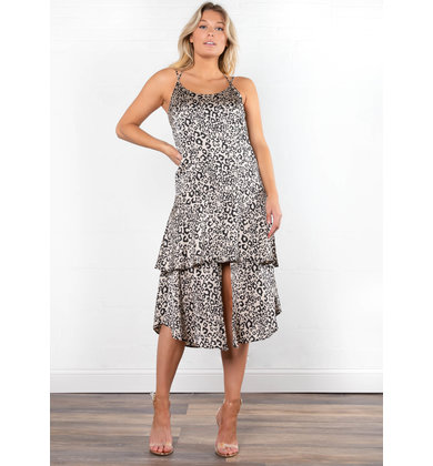 GIOVANNI LEOPARD MIDI DRESS