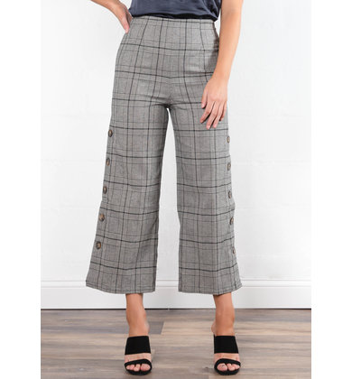 THROUGH THE CITY PLAID BOTTOMS