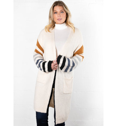 SEVEN WONDERS STRIPED CARDIGAN