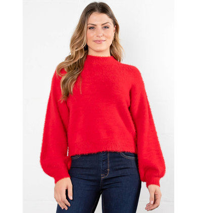 MEET ME INSIDE RED SWEATER