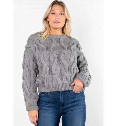 NOELLE CABLE KNIT SWEATER