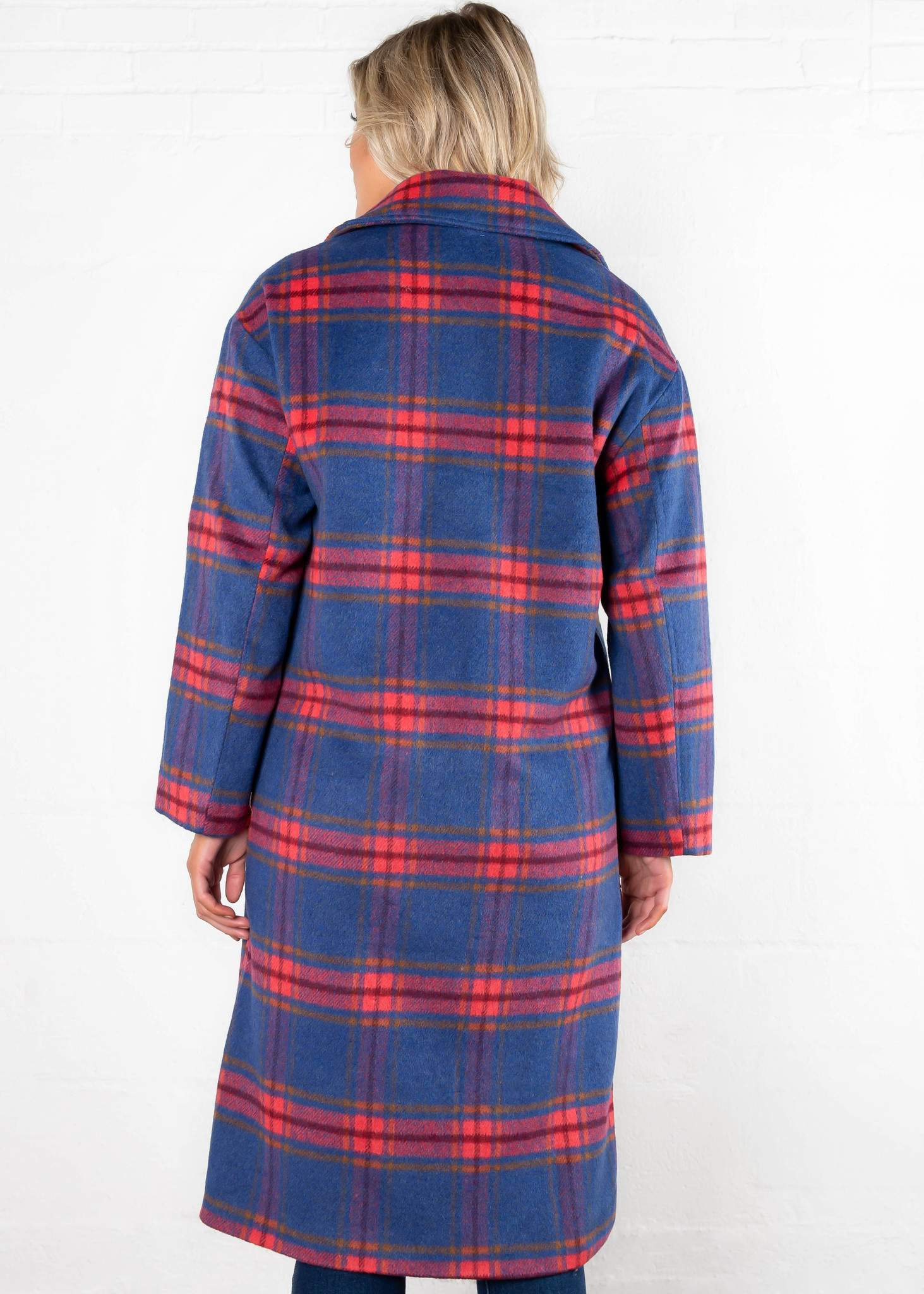 CLAIM TO FAME PLAID COAT