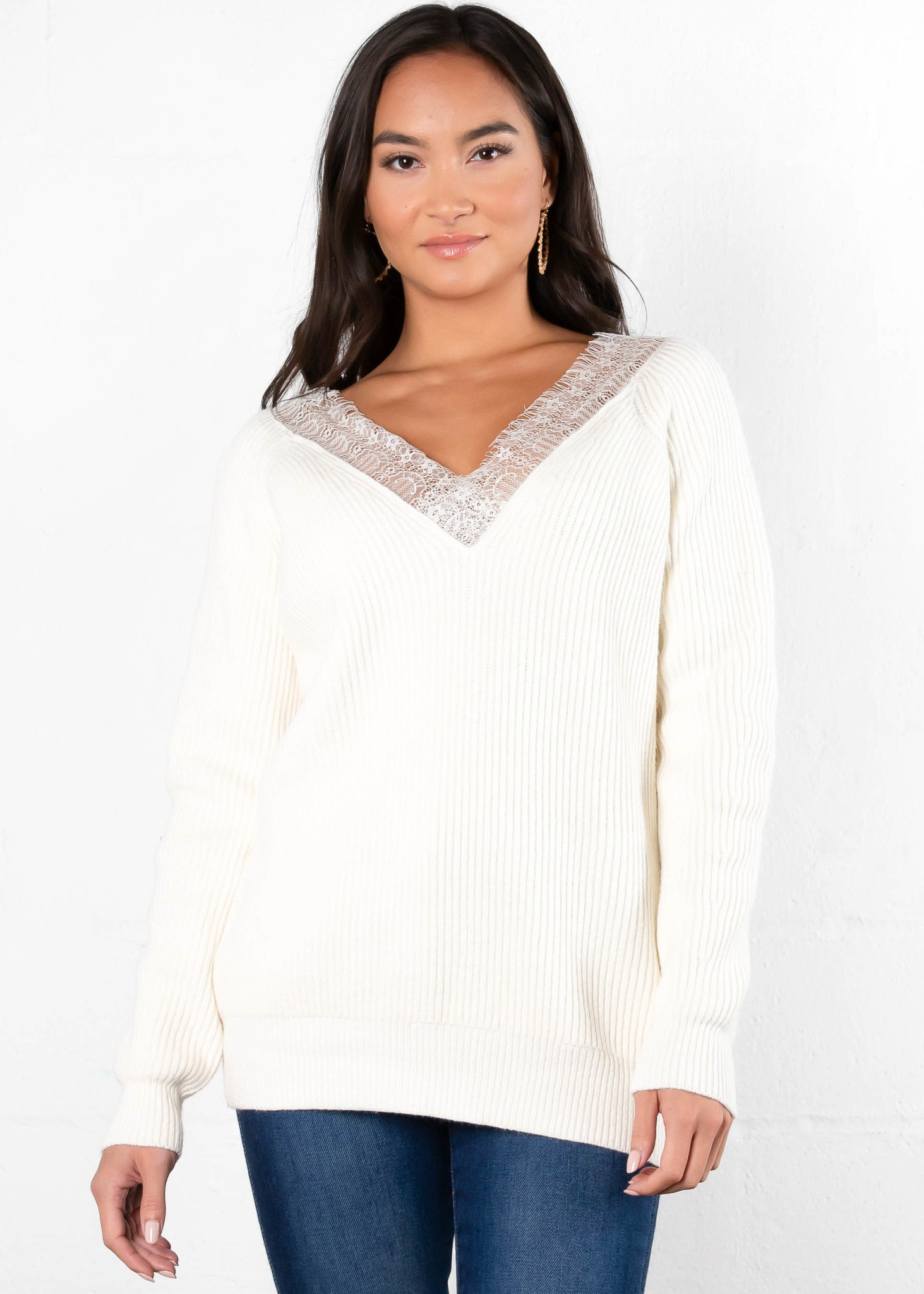 WORTH THE WAIT LACE SWEATER