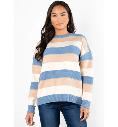 SWEPT AWAY STRIPED SWEATER
