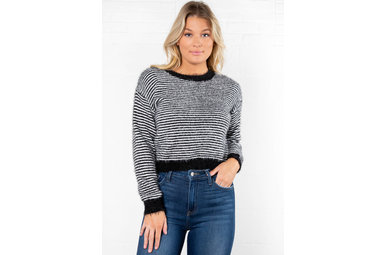 GOOD TO GO EYELASH KNIT SWEATER