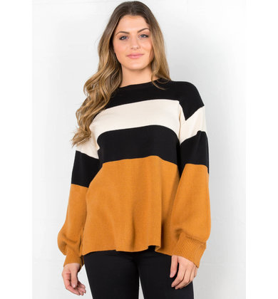 DESK TO DINNER COLOR BLOCK SWEATER