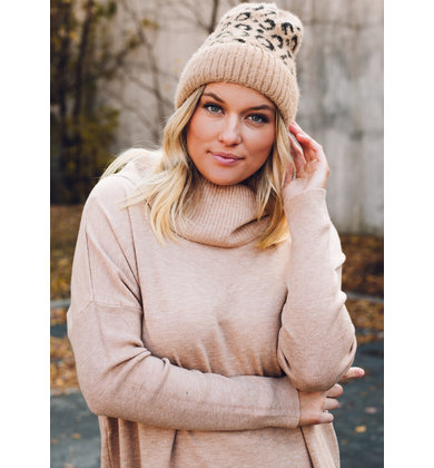 TOP SPOT WINTER HAT - TAN