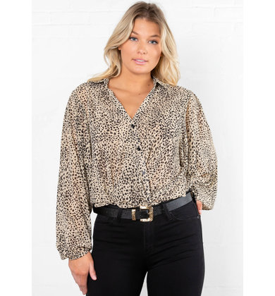 SAID AND DONE PRINTED BLOUSE