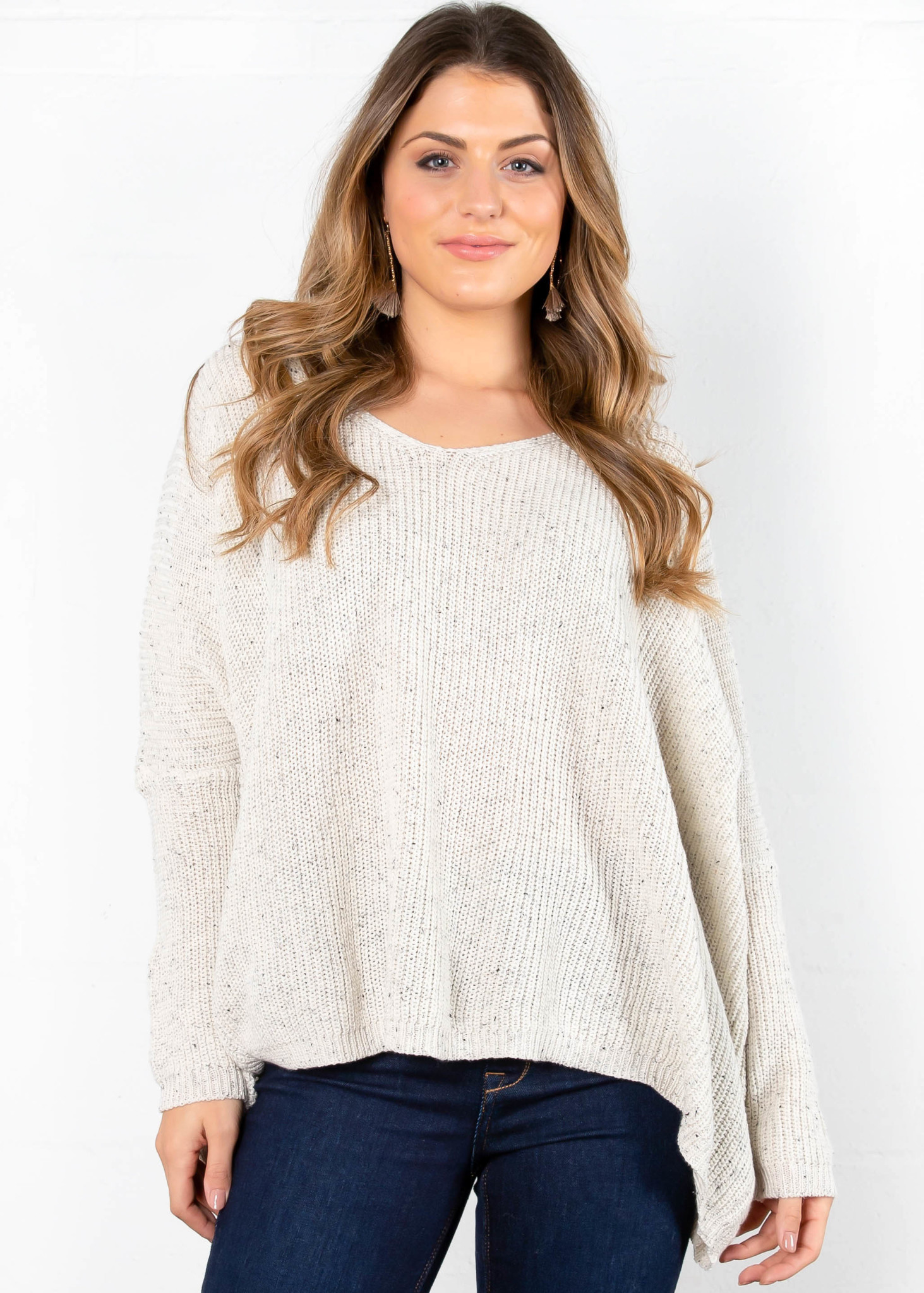 WISH FOR BLISS SPECKLED SWEATER