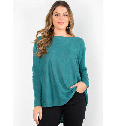 LAYLA LIGHTWEIGHT SWEATER - TEAL