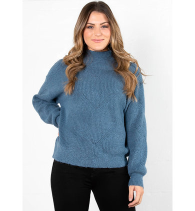 RAIN CHECK MOCK NECK SWEATER