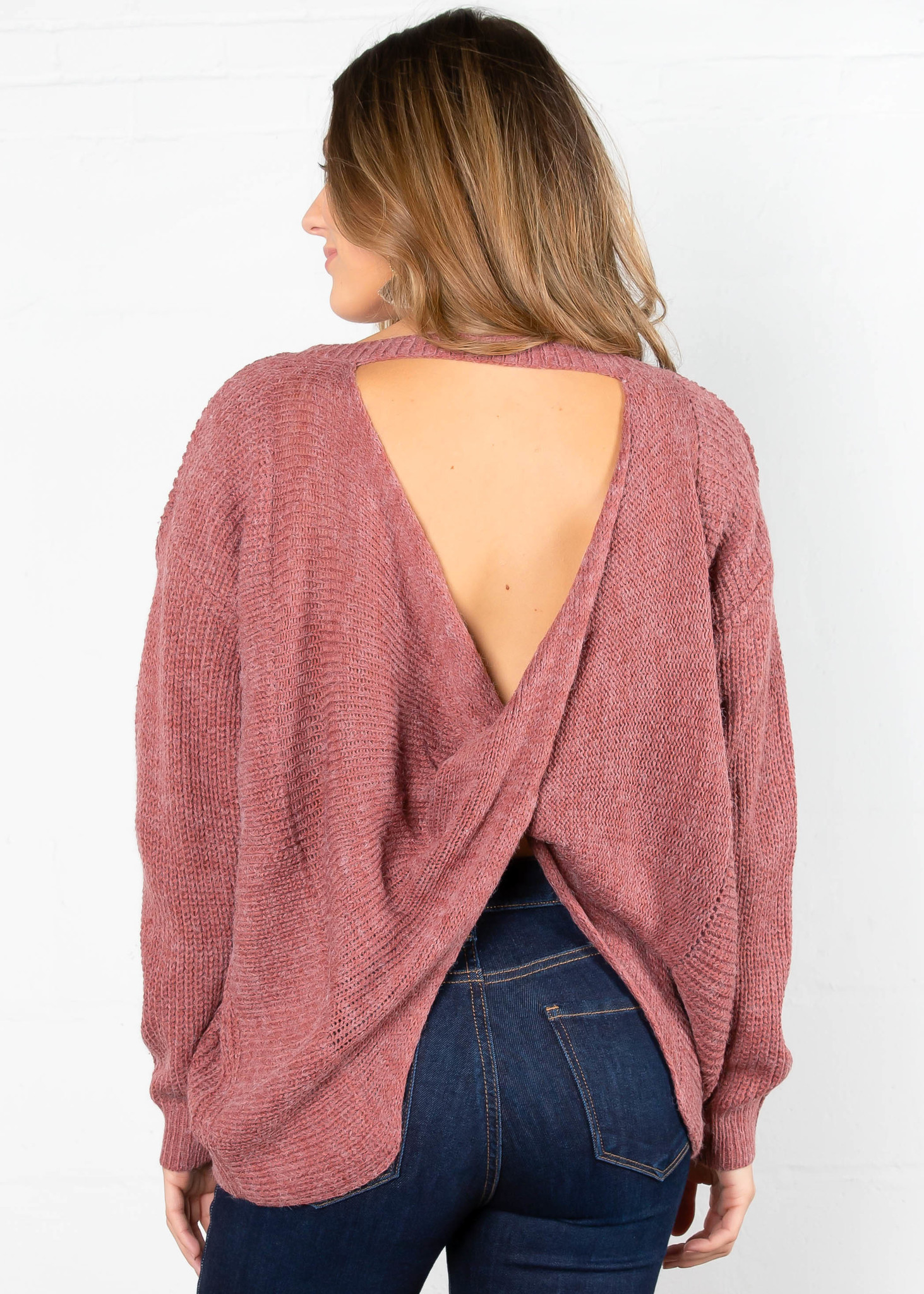 SANTA CLARA BACK TWIST SWEATER