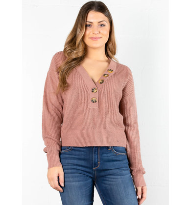 GINGER KNIT SWEATER - MAUVE