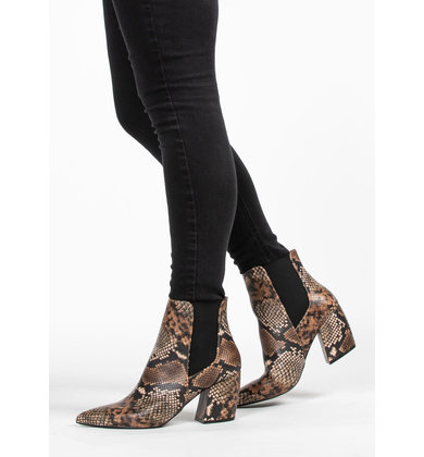 COBRA SNAKESKIN BOOTIES