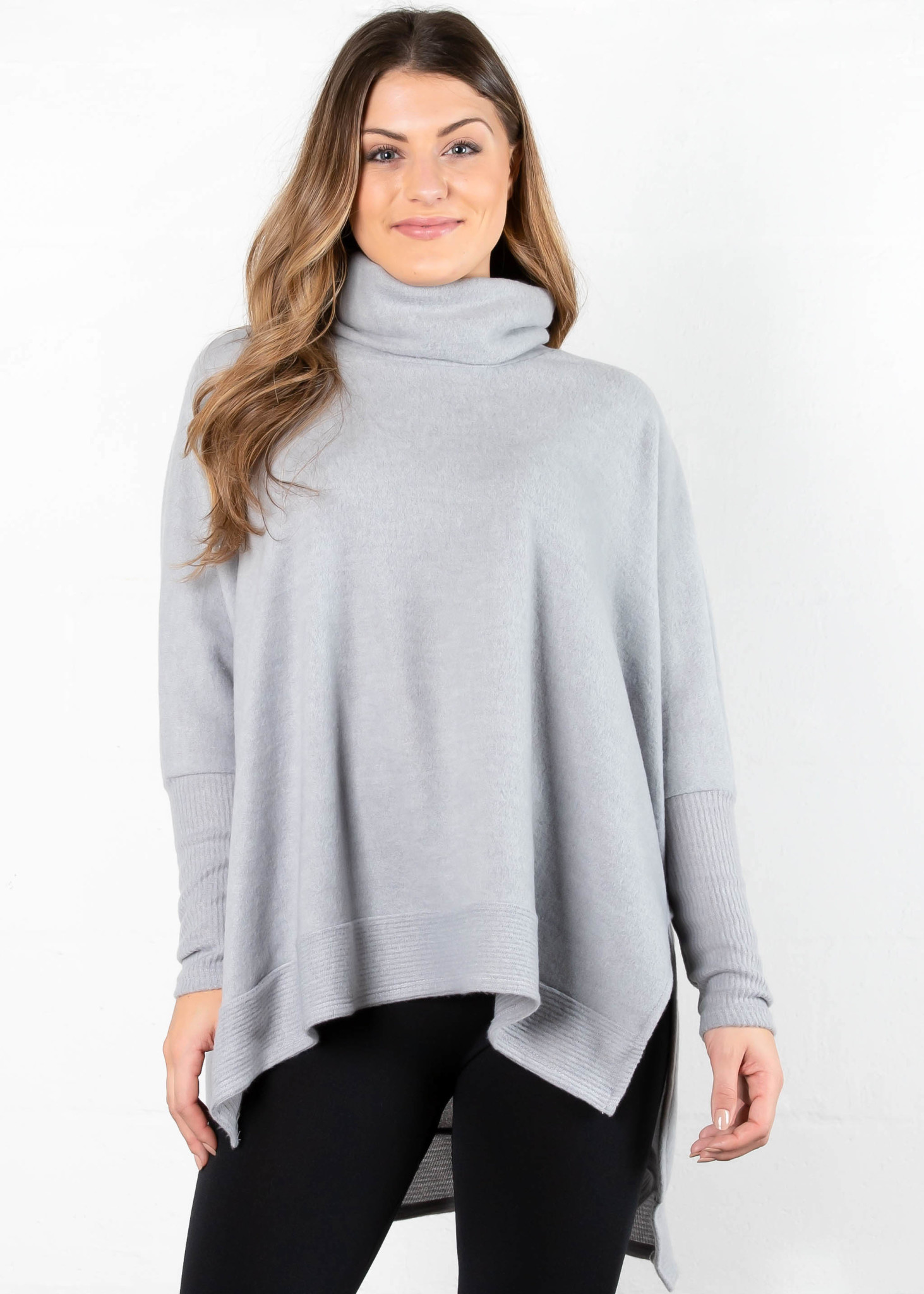 EASY GOING COWL NECK SWEATER