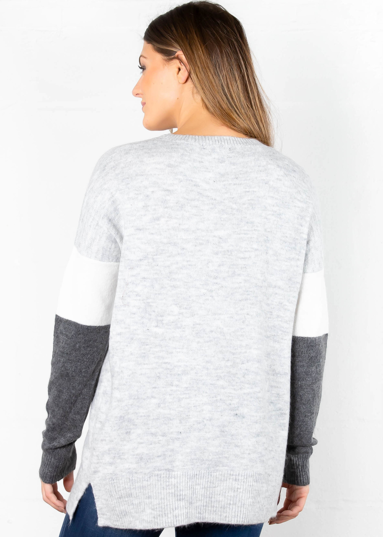 BACK + FORTH COLOR BLOCK SWEATER