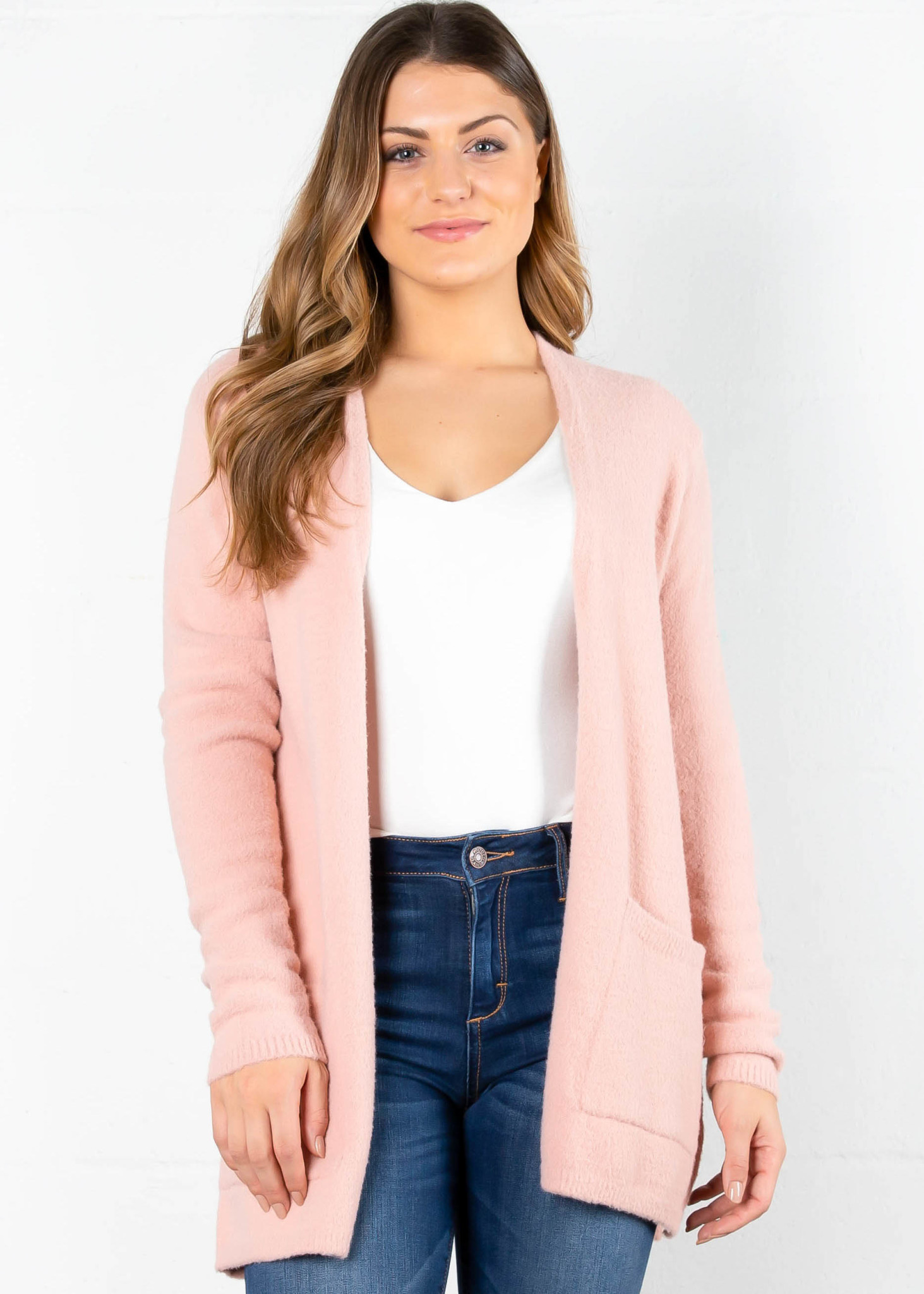 KIND HEART CARDIGAN - PINK