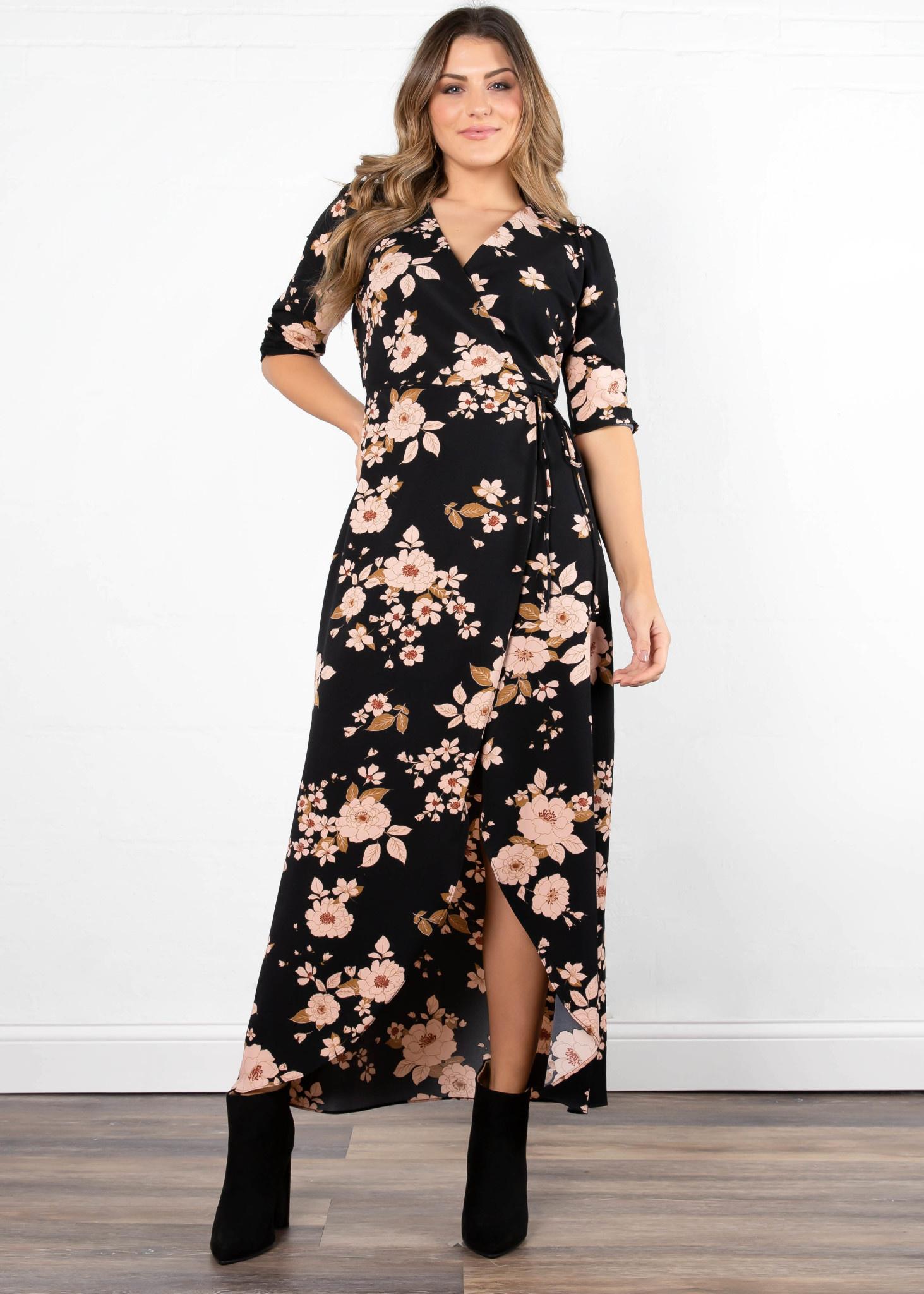FINAL ROSE FLORAL MAXI DRESS