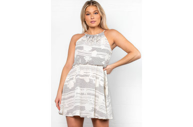 BLOW A KISS PRINTED DRESS