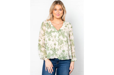 DELICATE BALANCE PLEATED BLOUSE