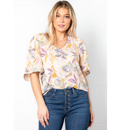 SELF LOVE SHORT SLEEVE BLOUSE