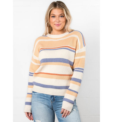TAKE A CHANCE STRIPED SWEATER