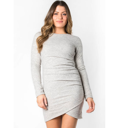 WAVES OF DESIRE RUCHED DRESS