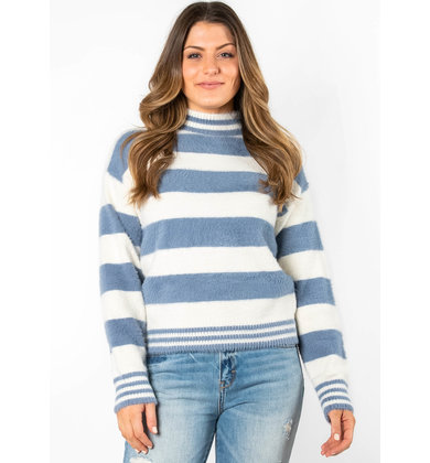 ALL OR NOTHING STRIPED SWEATER