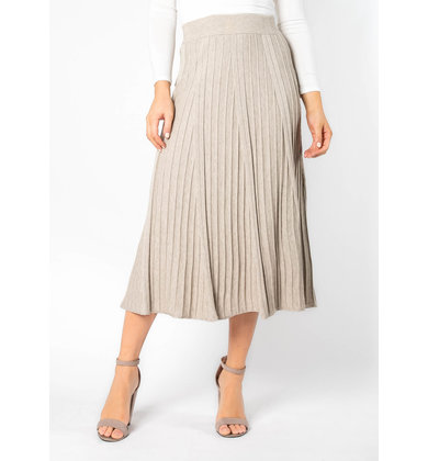 FINE BY ME PLEATED MIDI SKIRT