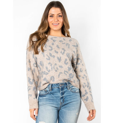 BEST FOR LAST LEOPARD SWEATER