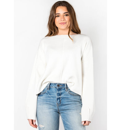 TRAVEL BUG WHITE SWEATER