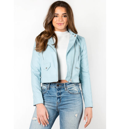AUDREY CROPPED LEATHER JACKET
