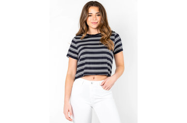 WHATEVER YOU LIKE STRIPED TEE