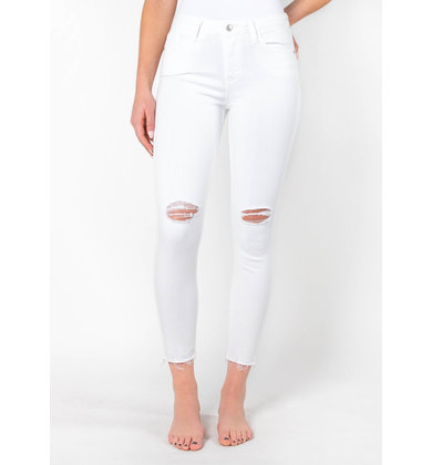 KELLER WHITE DISTRESSED JEANS