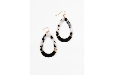SELENA EARRINGS - BLACK