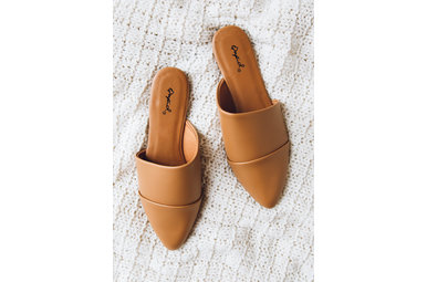 AFTERNOON IN PARIS TAN MULES