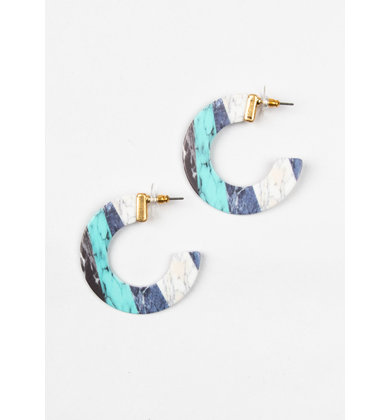 ON THAT NOTE EARRINGS - BLUE