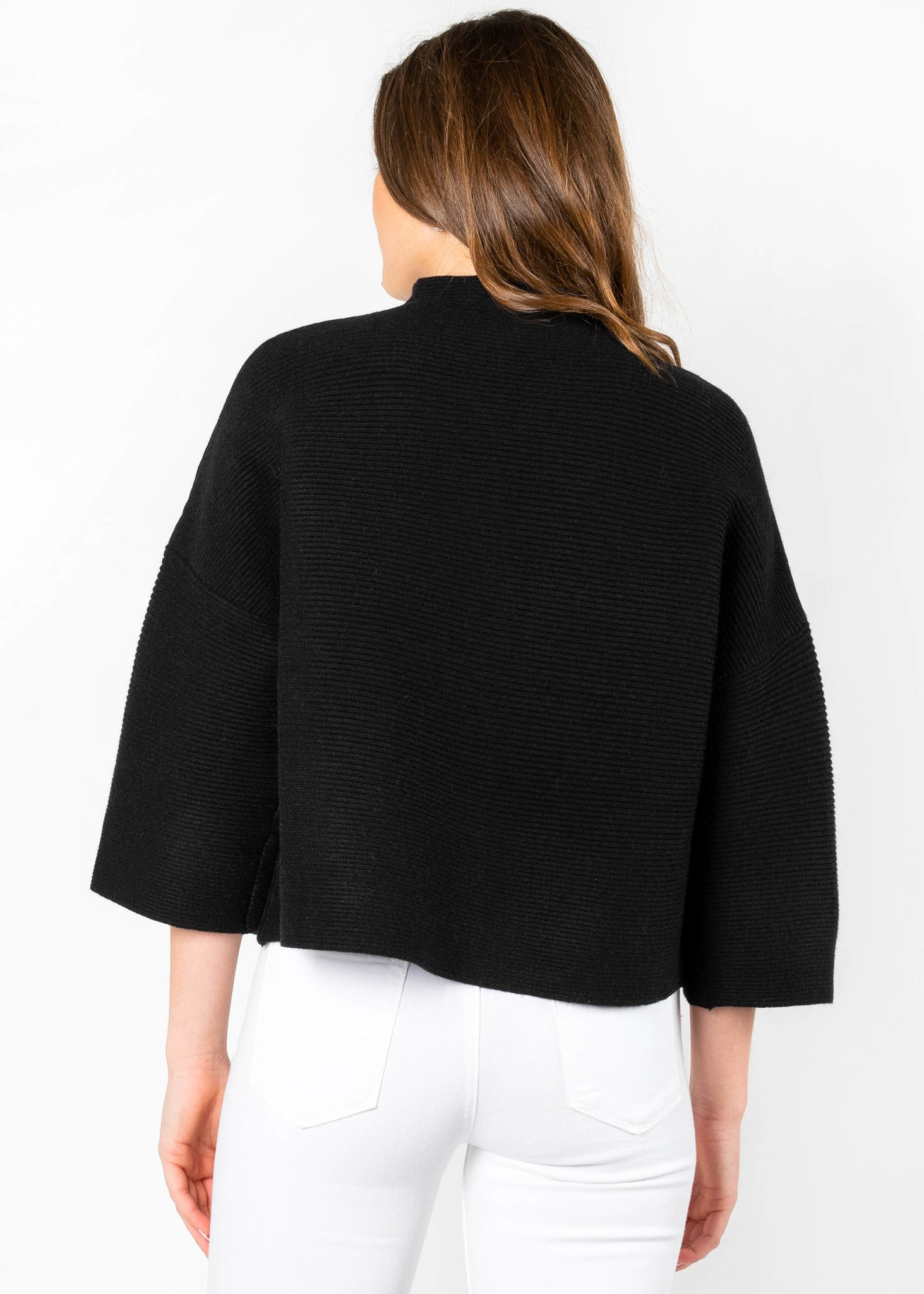 ANDIE MOCK NECK SWEATER - BLACK