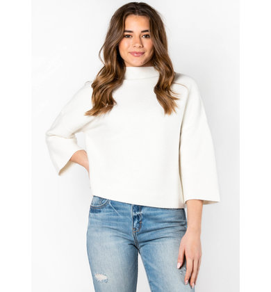 ANDIE MOCK NECK SWEATER - IVORY