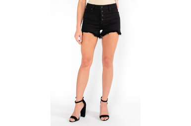 EYE ON YOU DENIM SHORTS - BLACK