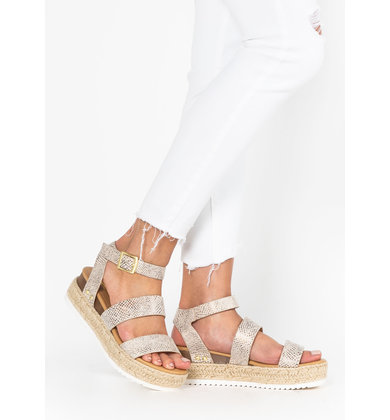 NEAR AND FAR SNAKESKIN ESPADRILLES