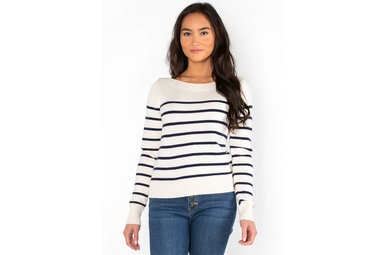 DRUM ROLL STRIPED SWEATER
