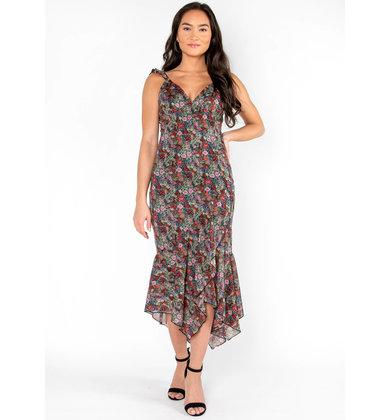 GRAND GESTURE FLORAL DRESS