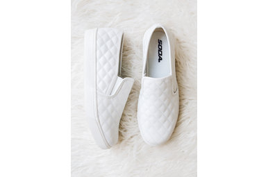 ALEXA QUILTED SNEAKERS - WHITE