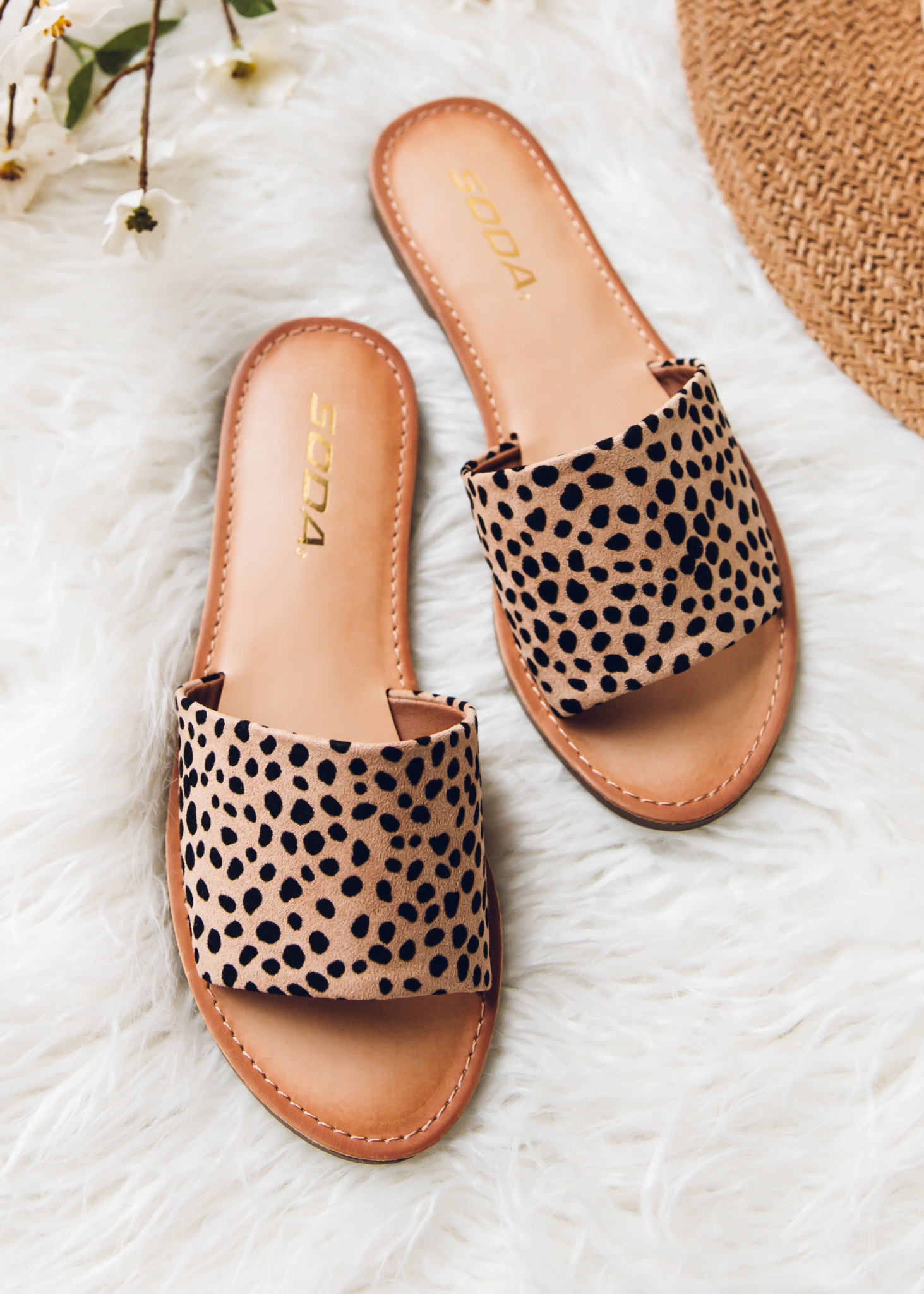 DESERT SUNSET LEOPARD SLIDES