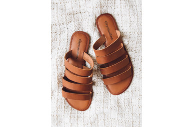SEVEN SEAS STRAPPY SLIDES