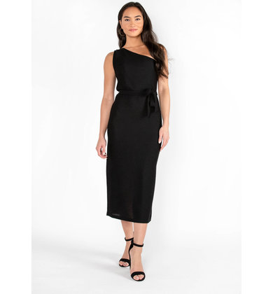 HELLO MOROCCO RIBBED MIDI DRESS